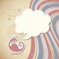 Lindo dragón y burbuja
