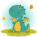 Cute dragon vector Royalty Free Stock Photo