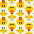 Cute duck seamless background design Royalty Free Stock Photo