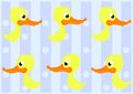 Cute Ducks Seamless Pattern Royalty Free Stock Photography