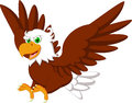 Cute eagle cartoon illustration of Royalty Free Stock Photo