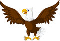 Cute eagle cartoon posing vector illustration of Royalty Free Stock Image