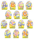 Cute Easter alphabet Stock Photography