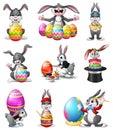 Cute Easter Bunnies set