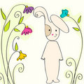 Cute Easter bunny Stock Image