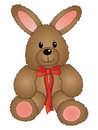 Cute Easter Bunny with Bow Stock Photo