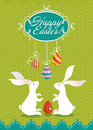 Cute Easter card. Royalty Free Stock Photography