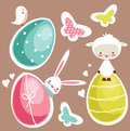 Cute Easter design elements Royalty Free Stock Photo