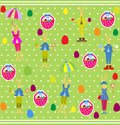 Cute easter seamless with bunnies and eggs this is file of eps format Royalty Free Stock Images