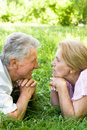 Cute elderly couple Royalty Free Stock Photography