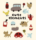 Cute elements Stock Photos