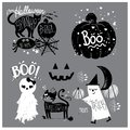 stock image of  Cute Elements of Halloween