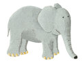 Cute elephant acrylic illustration of Royalty Free Stock Image