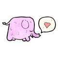 cute elephant cartoon Royalty Free Stock Photo