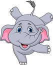 Cute elephant cartoon circus illustration of Stock Images
