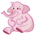 Cute Elephant pink vector Royalty Free Stock Image
