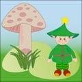 Cute Elf Vector Illustration