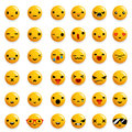 Cute Emoticon Smile Emoji Icons Set Isolated 3d Realistic Design Vector Illustration Royalty Free Stock Photo