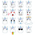 Cute emoticons set Royalty Free Stock Photo