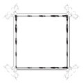 Cute fancy border frame Royalty Free Stock Photos