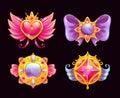 Cute fantasy decorative precious awards set.