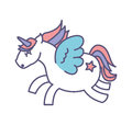 Cute fantasy unicorn icon