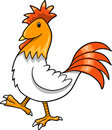 Cute Farm Rooster Vector Stock Photography
