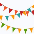 Cute festive colorful flags