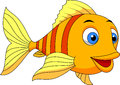 Cute fish cartoon illustration of Stock Image