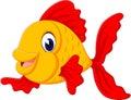 Cute fish cartoon Royalty Free Stock Photo