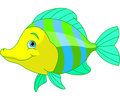 Cute fish illustration of cartoon Stock Photo