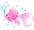 Cute fish illustration of pink Stock Photography