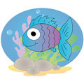 Cute fish on special background Royalty Free Stock Image