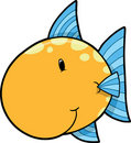 Cute Fish Vector Illustration Stock Photos