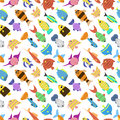 Cute fish vector illustration seamless pattern
