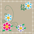 Cute floral background for your design cover pre bright card Royalty Free Stock Images
