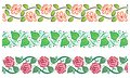 Cute floral borders Royalty Free Stock Image