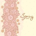 Cute floral romantic card spring background vector this is file of eps format Stock Image