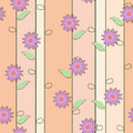 Cute floral seamless background vector illustration Stock Photo
