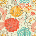 Cute floral seamless pattern Stock Image