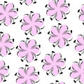 Cute floral seamless pattern, pink floral background. Gentle wallpaper. Flower texture
