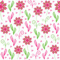 Cute floral seamless pattern and seamless patter in swatch menu can be used for wallpapers tableware packaging Stock Photo