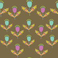Cute floral seamless pattern and seamless pattern in sw swatch menu can be used for wallpapers tableware packaging Royalty Free Stock Image