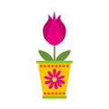 Cute flower in pot nature icon