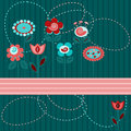 Cute flowers background Royalty Free Stock Images