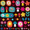 Cute flowers pattern Stock Photo