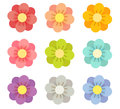 Cute flowers vector file eps Royalty Free Stock Images