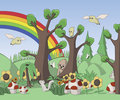 Cute Forest Illustration Royalty Free Stock Photo