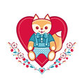 Cute fox greeting card