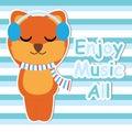 Cute Fox Listen Music On Strip...